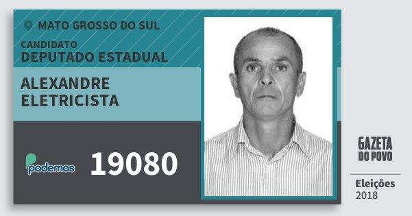 Santinho Alexandre Eletricista 19080 (PODE) Deputado Estadual | Mato Grosso do Sul | Eleições 2018
