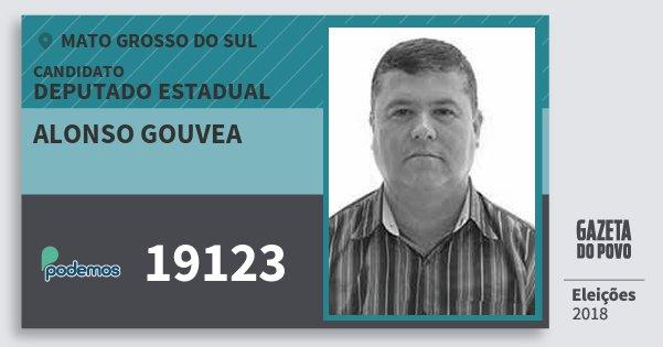 Santinho Alonso Gouvea 19123 (PODE) Deputado Estadual | Mato Grosso do Sul | Eleições 2018