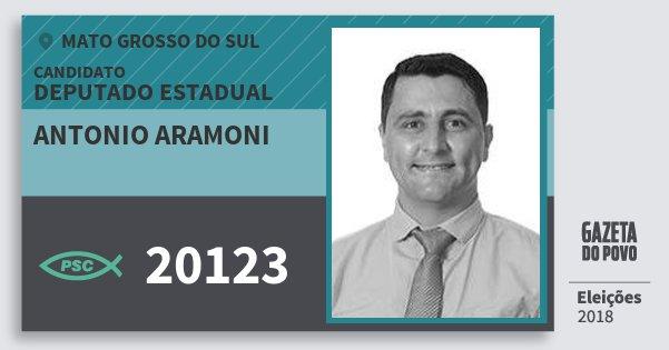 Santinho Antonio Aramoni 20123 (PSC) Deputado Estadual | Mato Grosso do Sul | Eleições 2018