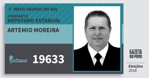 Santinho Artemio Moreira 19633 (PODE) Deputado Estadual | Mato Grosso do Sul | Eleições 2018