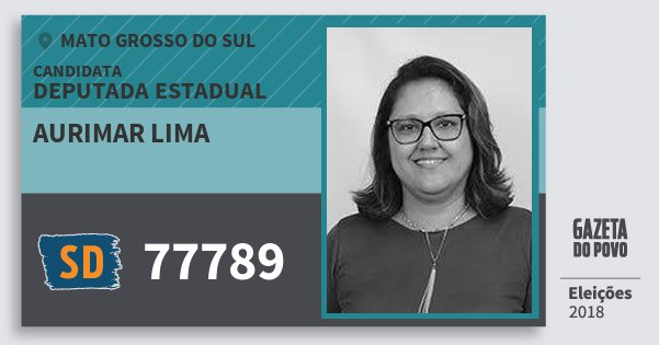 Santinho Aurimar Lima 77789 (SOLIDARIEDADE) Deputada Estadual | Mato Grosso do Sul | Eleições 2018