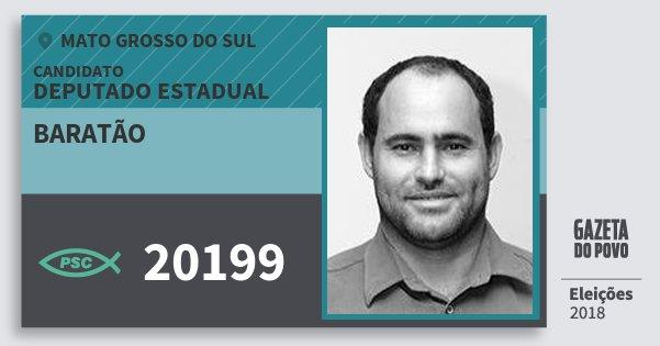 Santinho Baratão 20199 (PSC) Deputado Estadual | Mato Grosso do Sul | Eleições 2018