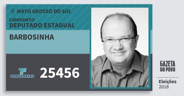 Santinho Barbosinha 25456 (DEM) Deputado Estadual | Mato Grosso do Sul | Eleições 2018