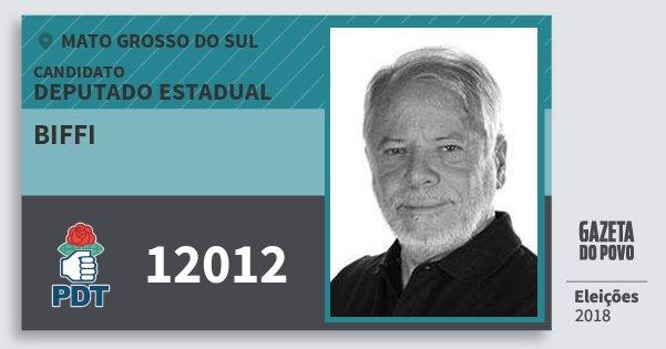 Santinho Biffi 12012 (PDT) Deputado Estadual | Mato Grosso do Sul | Eleições 2018