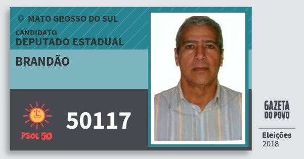 Santinho Brandão 50117 (PSOL) Deputado Estadual | Mato Grosso do Sul | Eleições 2018