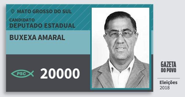 Santinho Buxexa Amaral 20000 (PSC) Deputado Estadual | Mato Grosso do Sul | Eleições 2018