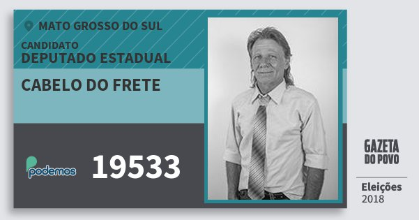 Santinho Cabelo do Frete 19533 (PODE) Deputado Estadual | Mato Grosso do Sul | Eleições 2018