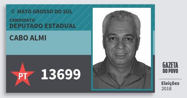 Santinho Cabo Almi 13699 (PT) Deputado Estadual | Mato Grosso do Sul | Eleições 2018