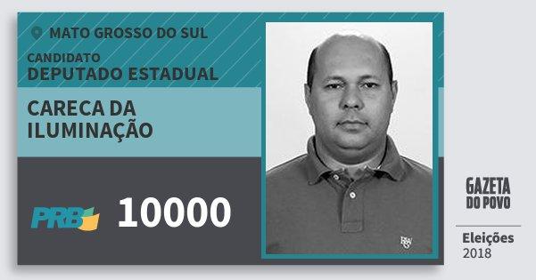 Santinho Careca da Iluminação 10000 (PRB) Deputado Estadual | Mato Grosso do Sul | Eleições 2018
