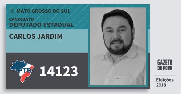 Santinho Carlos Jardim 14123 (PTB) Deputado Estadual | Mato Grosso do Sul | Eleições 2018