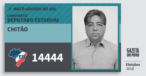 Santinho Chitão 14444 (PTB) Deputado Estadual | Mato Grosso do Sul | Eleições 2018