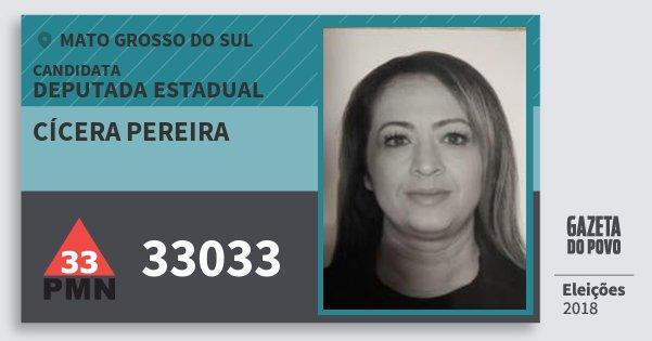 Santinho Cícera Pereira 33033 (PMN) Deputada Estadual | Mato Grosso do Sul | Eleições 2018
