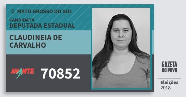 Santinho Claudineia de Carvalho 70852 (AVANTE) Deputada Estadual | Mato Grosso do Sul | Eleições 2018