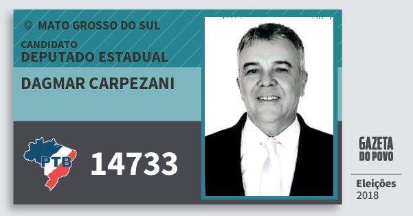 Santinho Dagmar Carpezani 14733 (PTB) Deputado Estadual | Mato Grosso do Sul | Eleições 2018