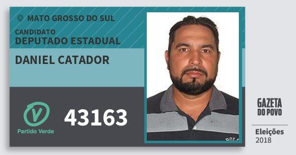 Santinho Daniel Catador 43163 (PV) Deputado Estadual | Mato Grosso do Sul | Eleições 2018