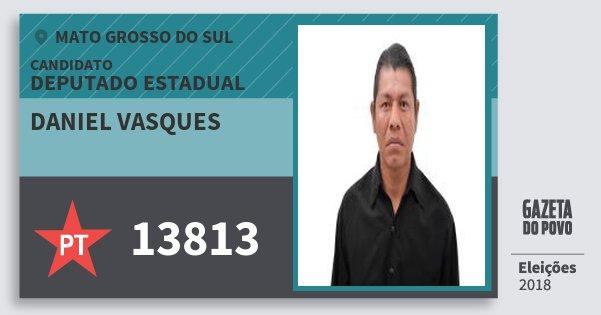 Santinho Daniel Vasques 13813 (PT) Deputado Estadual | Mato Grosso do Sul | Eleições 2018