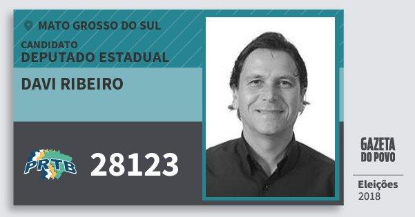 Santinho Davi Ribeiro 28123 (PRTB) Deputado Estadual | Mato Grosso do Sul | Eleições 2018