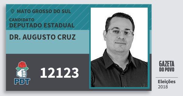 Santinho Dr. Augusto Cruz 12123 (PDT) Deputado Estadual | Mato Grosso do Sul | Eleições 2018
