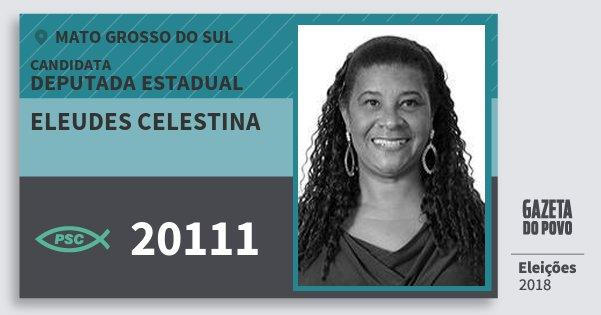 Santinho Eleudes Celestina 20111 (PSC) Deputada Estadual | Mato Grosso do Sul | Eleições 2018