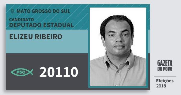 Santinho Elizeu Ribeiro 20110 (PSC) Deputado Estadual | Mato Grosso do Sul | Eleições 2018