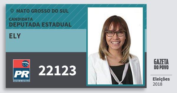 Santinho Ely 22123 (PR) Deputada Estadual | Mato Grosso do Sul | Eleições 2018