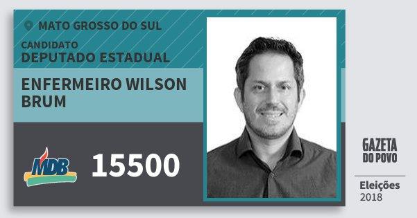 Santinho Enfermeiro Wilson Brum 15500 (MDB) Deputado Estadual | Mato Grosso do Sul | Eleições 2018