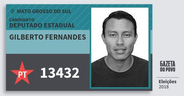 Santinho Gilberto Fernandes 13432 (PT) Deputado Estadual | Mato Grosso do Sul | Eleições 2018