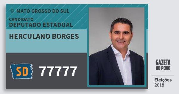 Santinho Herculano Borges 77777 (SOLIDARIEDADE) Deputado Estadual | Mato Grosso do Sul | Eleições 2018