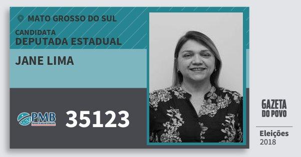 Santinho Jane Lima 35123 (PMB) Deputada Estadual   Mato Grosso do Sul   Eleições 2018