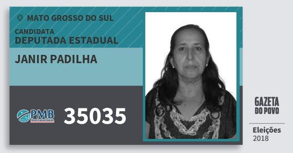 Santinho Janir Padilha 35035 (PMB) Deputada Estadual | Mato Grosso do Sul | Eleições 2018