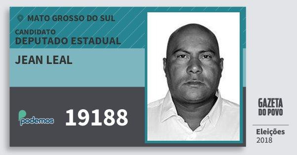 Santinho Jean Leal 19188 (PODE) Deputado Estadual | Mato Grosso do Sul | Eleições 2018