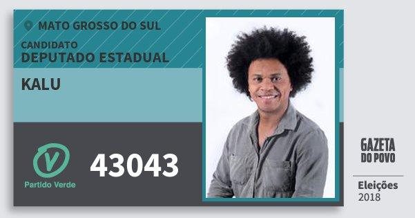 Santinho Kalu 43043 (PV) Deputado Estadual | Mato Grosso do Sul | Eleições 2018