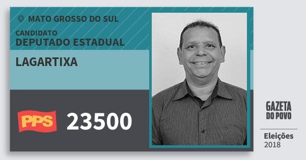 Santinho Lagartixa 23500 (PPS) Deputado Estadual | Mato Grosso do Sul | Eleições 2018