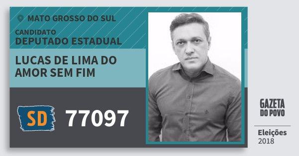 Santinho Lucas de Lima do Amor Sem Fim 77097 (SOLIDARIEDADE) Deputado Estadual | Mato Grosso do Sul | Eleições 2018