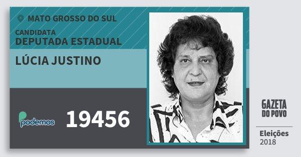 Santinho Lúcia Justino 19456 (PODE) Deputada Estadual | Mato Grosso do Sul | Eleições 2018
