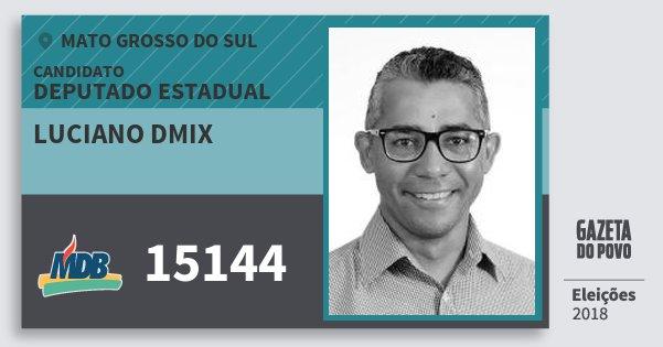 Santinho Luciano Dmix 15144 (MDB) Deputado Estadual | Mato Grosso do Sul | Eleições 2018