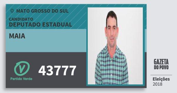 Santinho Maia 43777 (PV) Deputado Estadual | Mato Grosso do Sul | Eleições 2018