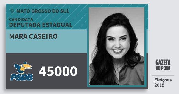 Santinho Mara Caseiro 45000 (PSDB) Deputada Estadual | Mato Grosso do Sul | Eleições 2018