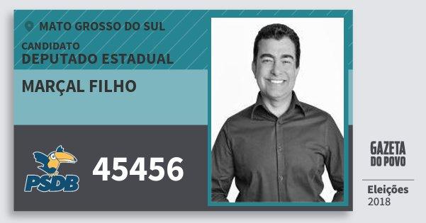 Santinho Marçal Filho 45456 (PSDB) Deputado Estadual | Mato Grosso do Sul | Eleições 2018