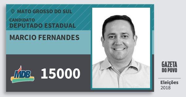 Santinho Marcio Fernandes 15000 (MDB) Deputado Estadual | Mato Grosso do Sul | Eleições 2018