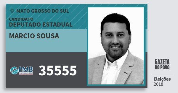 Santinho Marcio Sousa 35555 (PMB) Deputado Estadual | Mato Grosso do Sul | Eleições 2018