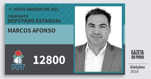 Santinho Marcos Afonso 12800 (PDT) Deputado Estadual | Mato Grosso do Sul | Eleições 2018
