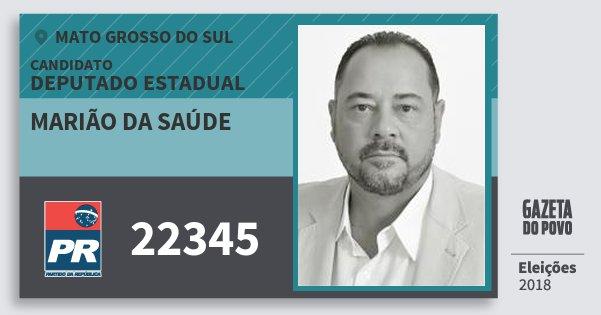 Santinho Marião da Saúde 22345 (PR) Deputado Estadual | Mato Grosso do Sul | Eleições 2018