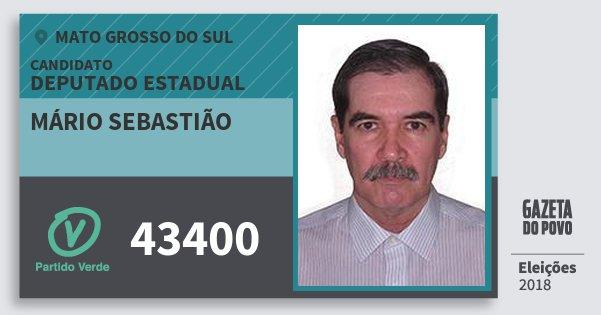 Santinho Mário Sebastião 43400 (PV) Deputado Estadual | Mato Grosso do Sul | Eleições 2018
