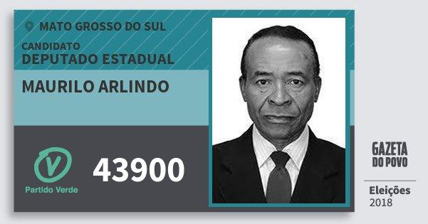 Santinho Maurilo Arlindo 43900 (PV) Deputado Estadual | Mato Grosso do Sul | Eleições 2018