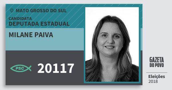 Santinho Milane Paiva 20117 (PSC) Deputada Estadual | Mato Grosso do Sul | Eleições 2018