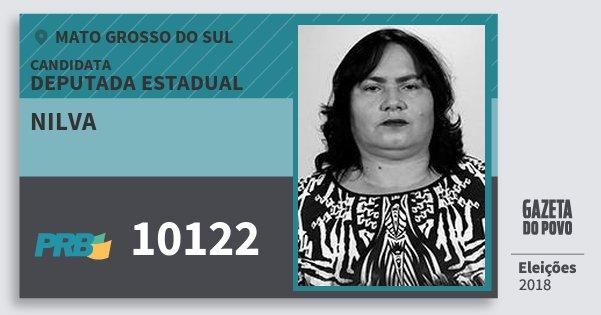 Santinho Nilva 10122 (PRB) Deputada Estadual | Mato Grosso do Sul | Eleições 2018