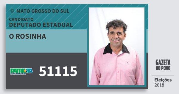 Santinho O Rosinha 51115 (PATRI) Deputado Estadual | Mato Grosso do Sul | Eleições 2018