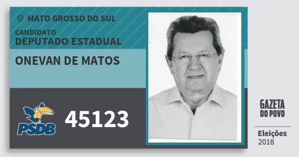 Santinho Onevan de Matos 45123 (PSDB) Deputado Estadual | Mato Grosso do Sul | Eleições 2018