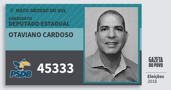Santinho Otaviano Cardoso 45333 (PSDB) Deputado Estadual | Mato Grosso do Sul | Eleições 2018